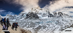 Everest_panorama (photosbyrabi) Tags: cloud mountain outdoor everest himalayas mteverest