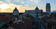 Pisa Sunset 17 (chriswalts) Tags: travel sunset italy streets tower night pisa leaning
