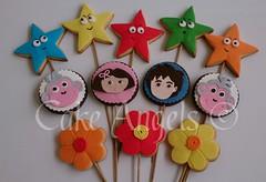 Dora the Explorer Cookies (Cake Angels) Tags: birthday cookies cake monkey cookie boots 1st explorer diego dora angels bouquet wwwcakeangelsconz