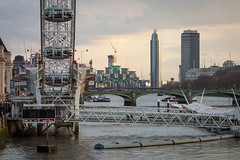 Hungerford Bridge | Busy View (James_Beard) Tags: london millenniumwheel thames londoneye hungerfordbridge canond30 millbanktower londonskyline londonlandmarks londonarchitecture stgeorgewharf canon24105 stgeorgewharftower