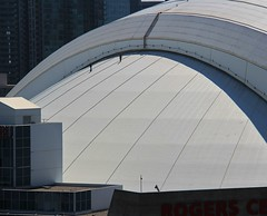A little roof work (LakeRidge Photography) Tags: toronto dome rogerscentre bluejays architecture stadium sports baseball football hotel workers rappel