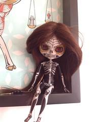 pagnonceli (ink_heron) Tags: zombie freak blythe calavera customblythe blythecustom blytheskull blythecalavera