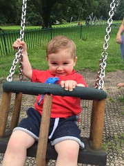 Another happy twin on a swing (Brabinos) Tags: park happy twins babies smiles swing toddlers