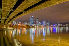 Narrows Bridge 3, Perth (stephenk1977) Tags: bridge reflection water skyline river swan nikon australia western wa cbd narrows d3300