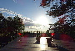 (*Petrine*) Tags: ferienhaus himmel nttraby ros schweden sonne terrasse wein
