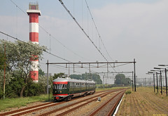 20160604 NSM 273, Hoek van Holland (Bert Hollander) Tags: museum groen vuurtoren trein 273 nsm nsr stel spoorwegmuseum mat46 hld hoekvanhollandhaven muizeneus 28212rtdhlds