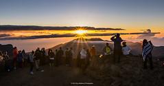 House of the Rising Sun [explored] (carolina_sky) Tags: morning sky people clouds sunrise volcano hawaii glow crowd maui haleakala crater aloha risingsun pele sunstar leleiwioverlook haleakalānationalpark pentaxk3ii k3ii pentax1530mm