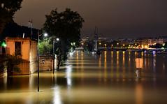 Crue de la Seine 2016 - Paris, berges rives gauche (EclairagePublic.eu) Tags: paris seine flooding eau tour flood lumire eiffel led berge quai inondation lampadaire naturelle catastrophe crue luminaire candlabre