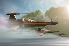 The seagull's squad (Shobrick) Tags: macro speed canon miniature starwars ship force geek lego warner 5d xwing bros poe episode vii markiii awakens lucasart shobrick takodana