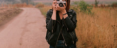 8 (Attila Terdik) Tags: redhead girl ginger hungary hungarian portrait fed 2 woman industar russian lens camera soviet ercsi field natural vintage practica plc 3 fuji c200 35mm film photo photography women