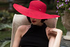 Red hat (Irina1010_out for sometime) Tags: portrait hat redhat woman oana garden canon outstandingromanianphotographers