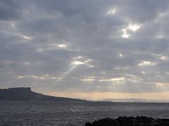 05_06_2016_1146 (andysuttonphotography) Tags: light sky sunlight rock clouds landscape island islands coast scotland small shoreline scottish atmosphere an coastal shore rays muck isle shafts isles hebrides eigg sgurr hebridean