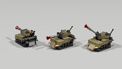 MINI Army Tanks (RedRoofArt) Tags: lego moc army tank fighter bomber mini pico pica micro