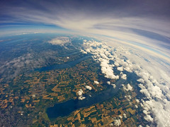 Near Space Balloon (Matt Champlin) Tags: blue ny weather clouds space auburn science aerial highschool cny hero fingerlakes aerialphotography ilovenewyork gopro spaceballoon goprohero3 highaltitudescience