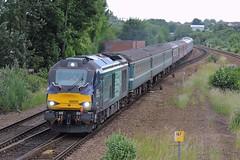 Class 68, 68005 (mike_j's photos) Tags: station nikon railway ecs drs swinton directrailservices 68018 68005 class68 p530 586b