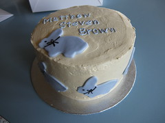 Christening Cake with Bunnies (Sugar Flower Gardener) Tags: boy rabbit bunnies cake smbc christeningcake sugarpaste