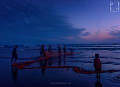 Life at Karachi Beach (ghalibhasnain) Tags: life karachi beach fishing hope future sea sunset menatwork ghalibhasnainphotography pakistan