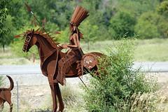 Statue 2 (kkdemien) Tags: metal artwork native statues americal