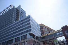Johns Hopkins (Sam DeGenova) Tags: baltimore buildings city cars sun shine reflections people street america