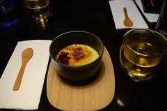 Matcha creme brulee with hot grean tea AUD10 - Mensousai Mugen, Melbourne (avlxyz) Tags: fb3 food japanesefood gaijinfood dessert custard cremebrulee matcha greentea sweet