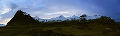 a picnic bench with quite a view (lunaryuna) Tags: road panorama season landscape iceland spring solitude isolation lunaryuna restarea picnictable mountainrange southiceland seasonalchange