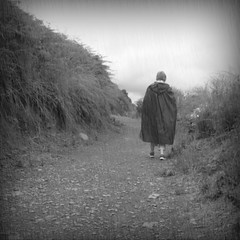 Summer Rain (Tom Kennedy1) Tags: rain rainyday raincape regencape capedepluie blackandwhite irishweather cape