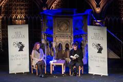 Neil Gaiman at the Union Chapel-2 (adambowie) Tags: neilgaiman unionchapel