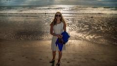 Early Sun (emptyseas) Tags: ocean usa beach heron sand nikon florida ella cocoa d800 emptyseas