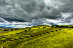 Hadrian's wall. (CiaranFitzgeraldPhotography) Tags: light sky storm rome nature wall clouds canon wow landscape amazing fantastic natural roman awesome picture atmosphere stormy stunning soldiers brooding incredible complex cloudporn picts romans brood celts mycanon skyporn