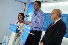 Andrea Levy, Xavier Garcia Albiol y Jorge Fernández