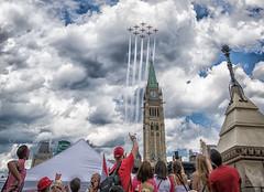 Canada Day in Ottawa - 1803 (RG Rutkay) Tags: canada clouds ottawa celebration parliamenthill snowbirds peacetower