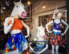 The Fashionistas (karen axelrad (karenaxe)) Tags: mannequins surreal leonardo handyphoto stackables snapseed icolorama