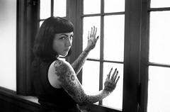 Juliette (mattbellphoto) Tags: blackandwhite bw film 35mm ilford 50mmf14 nikonfe2 xtol delta400 juliettegeorge