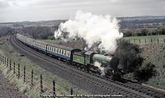 1981 - 'Shire' on the 'Fair Maid'.. (Robert Gadsdon) Tags: steam 1981 preserved shire 440 246 lner srps gresley coaltownofbalgonie fairmaidrailtour