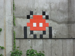 Space Invader PA_1??? (tofz4u) Tags: red streetart black tile rouge big noir mosaic spaceinvader spaceinvaders 94 invader autoroute mosaque a86 artderue valdemarne lafrancilienne