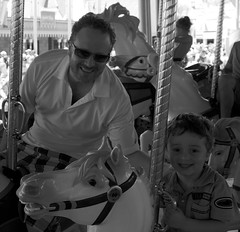 Cash and Daddy Ride The Carousel - Magic Kingdom - WDW - 5.13 (meanderingmouse) Tags: travel carousel disney cash disneyworld canonef24105mmf4lis