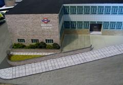 Brixton garage diorama (3) (kingsway john) Tags: kingswaymodels londontransport busgarage diorama model card kit 176 scale brixton bus garage londontransportmodel oo gauge miniature