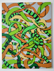 Racing, Lime, Apple,Tan & Flesh Series two ribbon (Jack Dicker) Tags: urban abstract art illustration ink painting graffiti design graphics ribbons acrylic graphic creative style brush fresh canvas illusion ribbon create molotow tombow