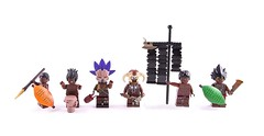 The Lost Tribe - Fantasy Zulu (Hammerstein NWC) Tags: africa musician lost heart lego drum witch feathers warrior shield bone tribe custom standard zulu spear cursed witchdoctor chieftain tribesmen chukka crazyarms hungamunga bonenecklace brickarms jungledrums brickarm uclips commandgroup brickwarriors havocblade