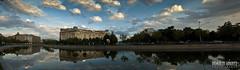the Dambovita river - Panorama (Romulus Anghel) Tags: city urban panorama water buildings river romania bucharest 2012 dambovita
