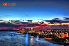 Balikpapan Coastal (Chaz Tumbelaka Photography) Tags: city sunset urban skyline architecture coast cityscape waterfront borneo balikpapan