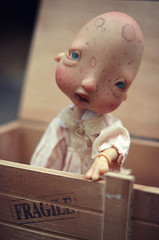 "Ernestine - "" Fragile "" (Nickocha) Tags: face up ball doll artist no bald wig bjd kane humpty dumpty fragile jointed nefer"
