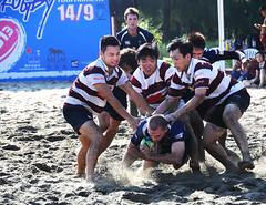 13th Macau Beach Rugby Tournament  2013 (Melinda ^..^) Tags: game men beach play rugby tournament macau    2013   macaubeachrugbytournament