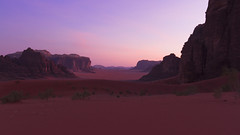 Wadi Rum Sunset (indii.org / Lawrence Murray) Tags: sunset desert wadirum jordan