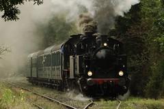 CFV3V Steamlocomotive N 507 (A.M.T.F.) with a tourist train in Olloy-sur-Viroin. (Franky De Witte - Ferroequinologist) Tags: de eisenbahn railway estrada chemin fer spoorwegen ferrocarril ferro ferrovia