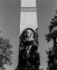Obelisk (Rob Bultman) Tags: ilfordfp4 red25a cavehillcemetary id1111 mamiyarb67prosd 180mmkl