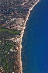 Costa Brava (Prinz Wilbert) Tags: sea costa beach strand plane golf coast meer europa europe mediterranean eu catalonia aerial fromabove shore brava birdseyeview fromtheair spanien kste luftbild birdsview vogelperspektive espanya katalonien mittelmeer vonoben birdseyeperspective riuter golfanlage