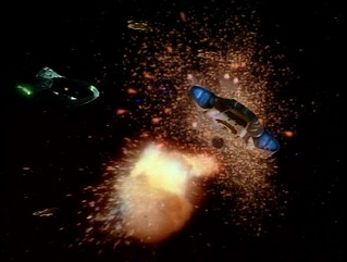 Romulan Cardassian Fleet and the USS Defiant NX-74205 fighting the Jem'Hadar