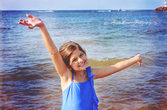 (Krista Cordova Photography) Tags: lake beach water girl kids children boats freedom bluewater lakemichigan littlegirl cutekids blueswimsuit