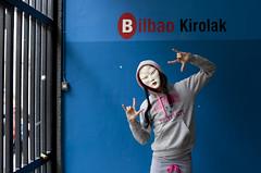 Fran / Chinese Angelita la Perversa in Bilbao (www.eduardoeduardo.com) Tags: china gay guy girl del de la sevilla mask chinese fran bilbao mercado mascara queer ria bilbo angelita perversa ribera nervion chandal neska txina